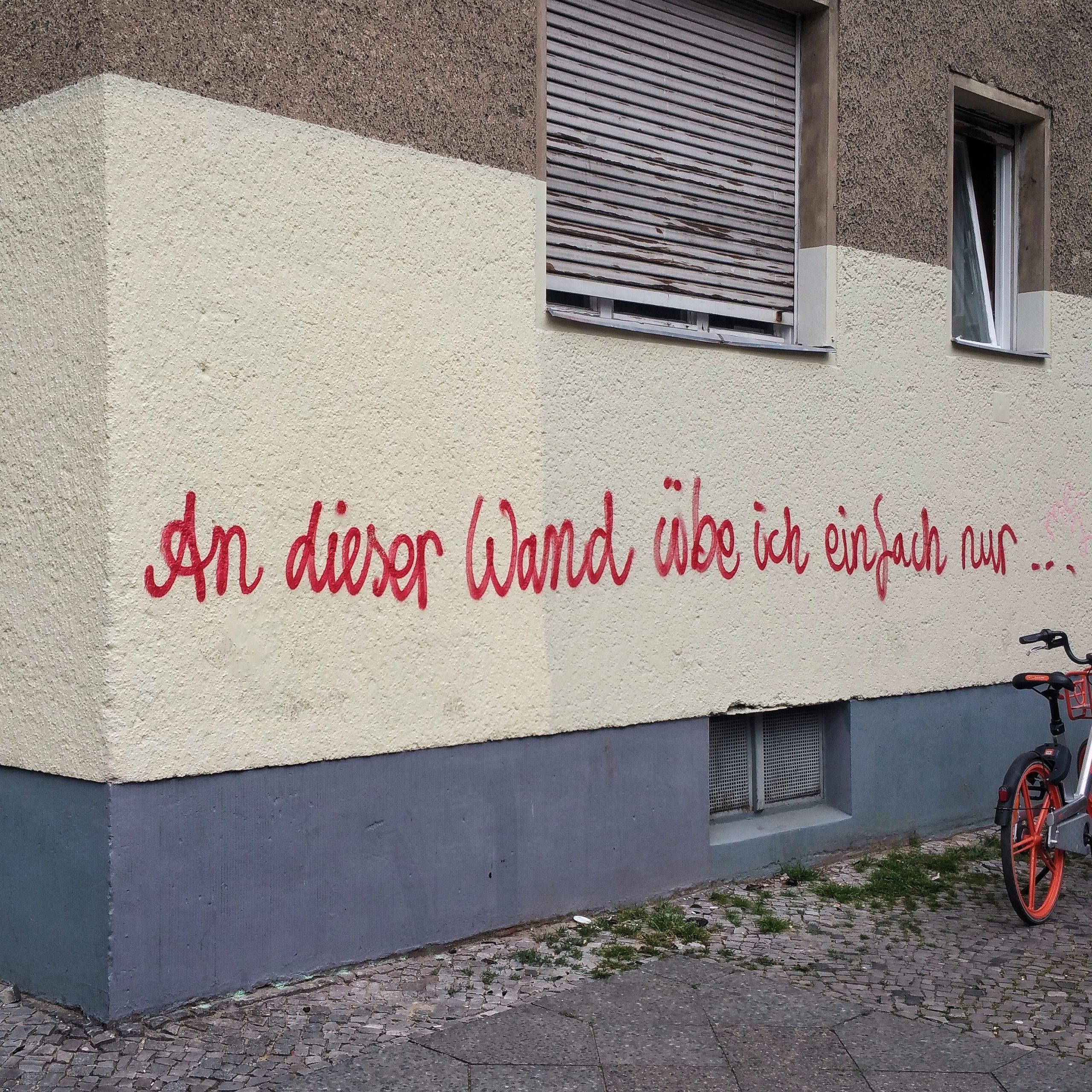 An dieser Wand übe ich nur | © Anne Seubert