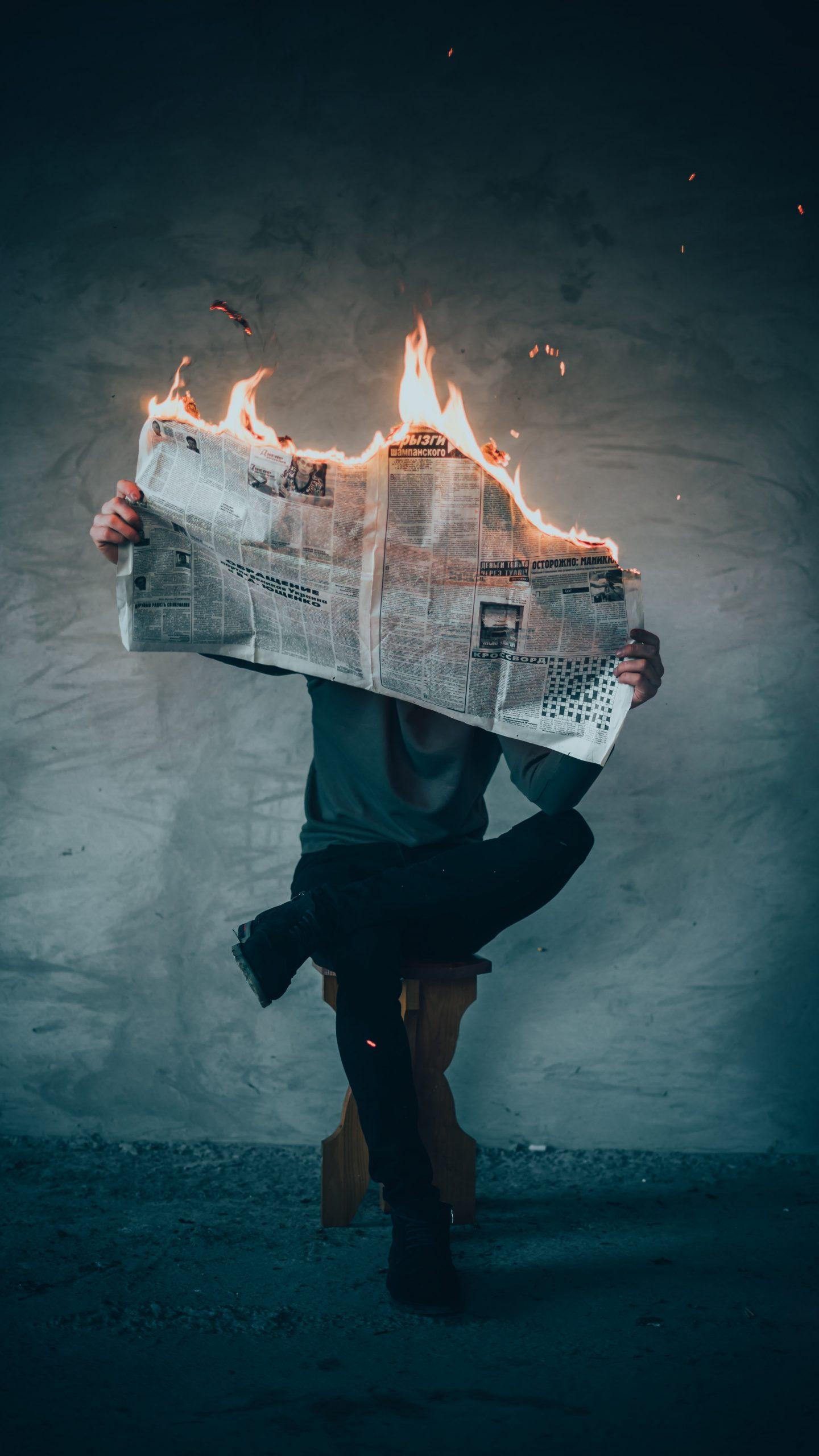 Burning News | © Elijah O'Donnell