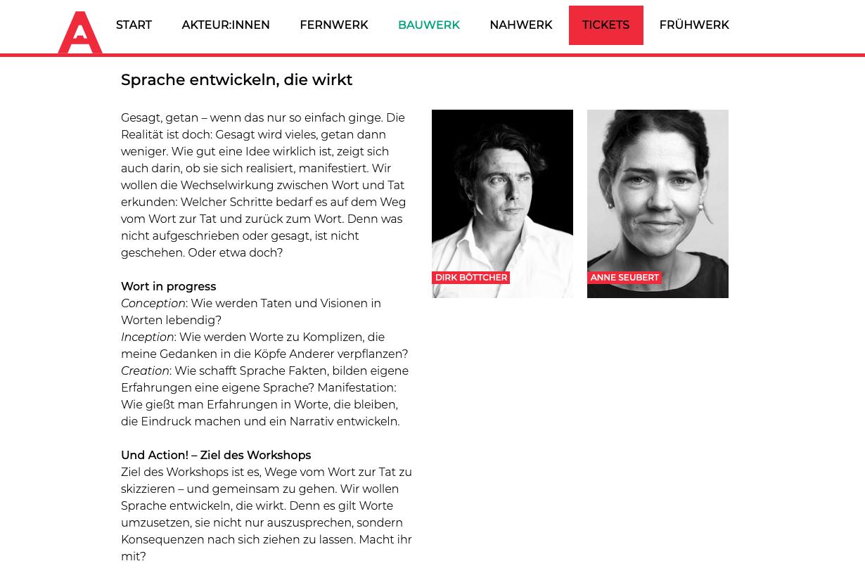 Age Of Artists | Bauwerk 2021 | Sprache entwickeln, die wirkt